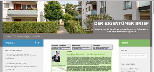 Frische Informationen für Wohnungseigentümer: Infodienst DER EIGENTÜMER BRIEF startet neuen Blog